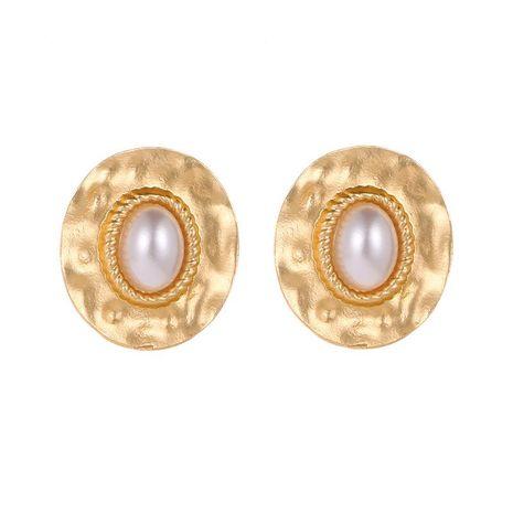 Round twist pearl stud earrings NHDP151875's discount tags