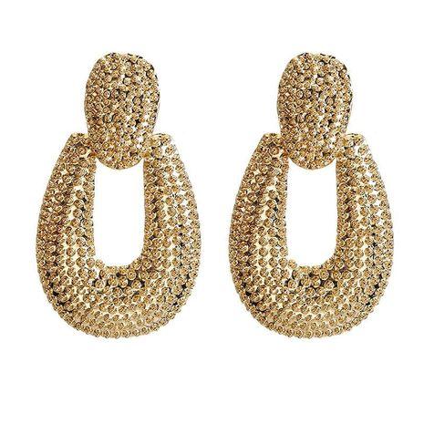 U-shaped geometric retro ethnic style alloy earrings NHPF151876's discount tags