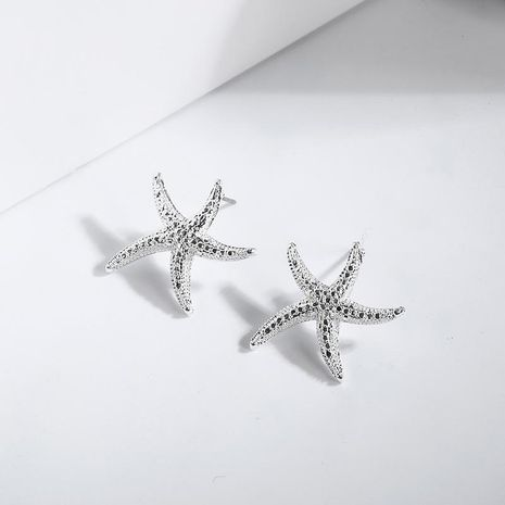 Starfish alloy stud earrings NHPF151883's discount tags