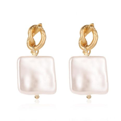 Knotted shell pearl earrings NHDP151905's discount tags
