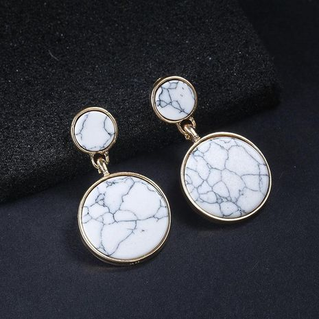 New marbled round earrings NHPF151909's discount tags