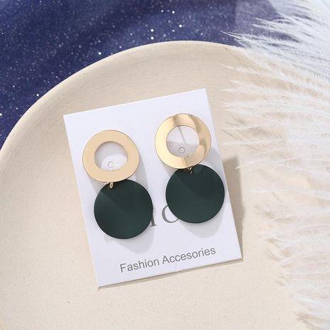 Openwork metal ring irregular earrings NHPF151912's discount tags