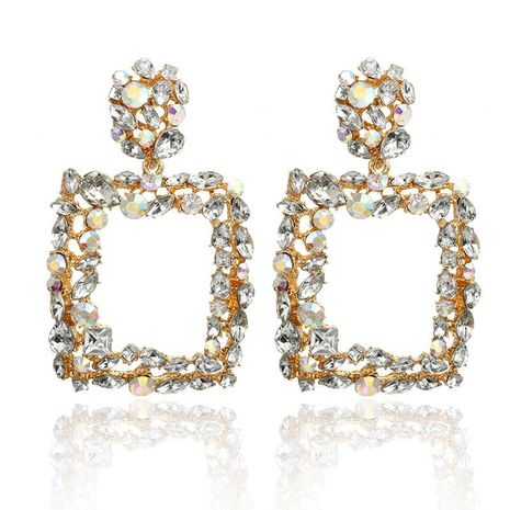 Colored diamond square earrings NHPF151917's discount tags