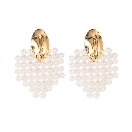 Fashion Pearl Heart-shaped Earrings NHDP151929's discount tags