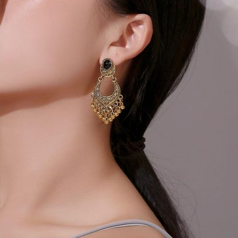 Gold and silver carved beads tassel earrings NHDP151931's discount tags