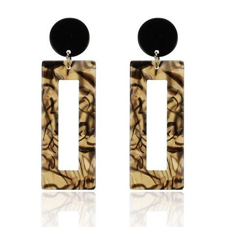 Leopard acrylic geometric earrings NHPF151936's discount tags
