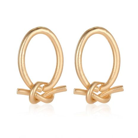 New alloy knotted earrings NHDP151939's discount tags
