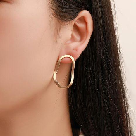 Openwork wavy metal stud earrings NHDP151940's discount tags