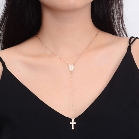 Fashion cross alloy necklace NHDP151946's discount tags