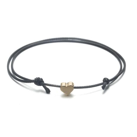 Fashion leather rope heart-shaped alloy anklet NHPF151966's discount tags