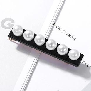 New plate pearl hair clip NHJQ151969's discount tags