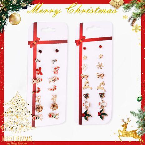 Lot de 8 paires de clous d'oreilles cerf de Noël NHDP151986's discount tags