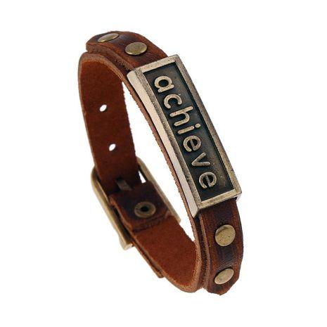 Unique vintage charm belt leather bracelet NHPK152001's discount tags