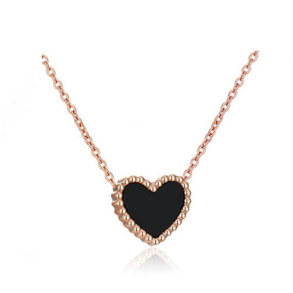 Fashion rose gold double-sided love necklace NHIM152002