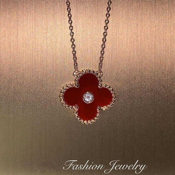 Fashion lucky four-leaf clasp necklace NHIM152013