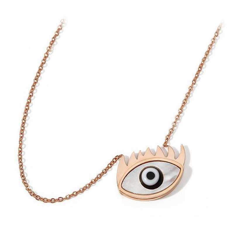 Fashion titanium steel angel eye necklace NHIM152022