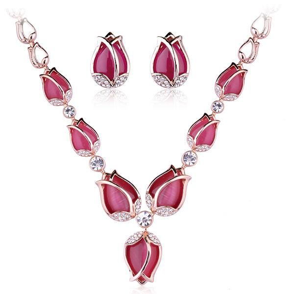 Womens Electroplated Alloy Jewelry Sets NHLJ152046