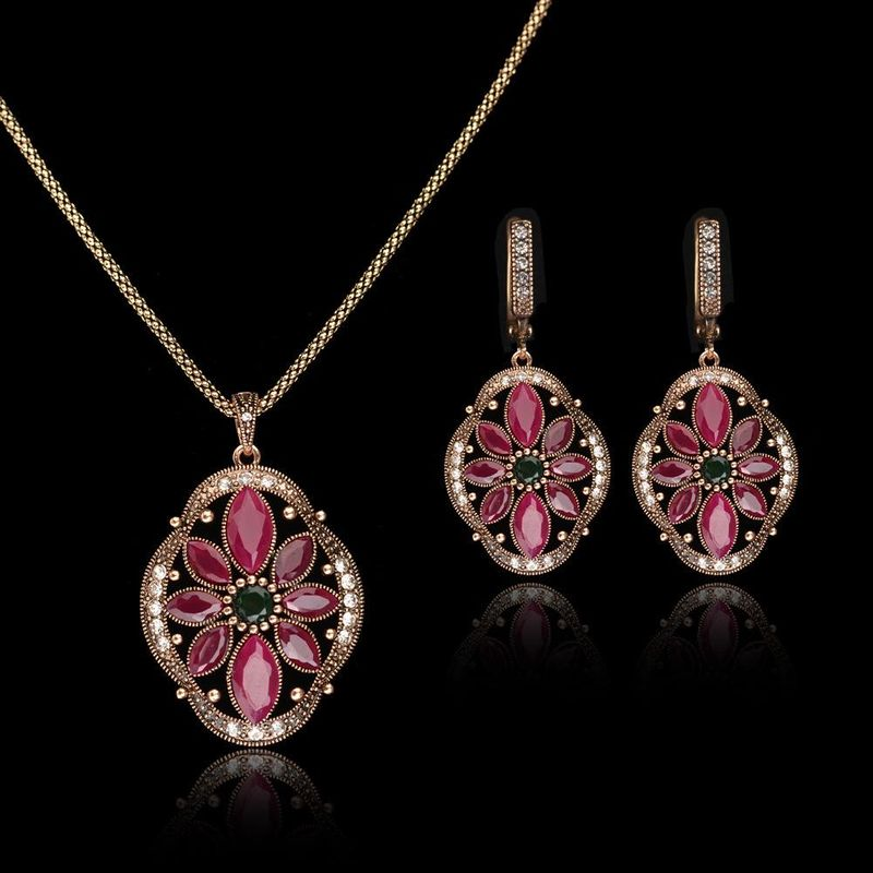 Womens Diamond Alloy Jewelry Sets NHLJ152048