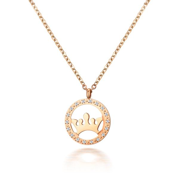 Korean version of the simple zircon crown necklace NHIM152051