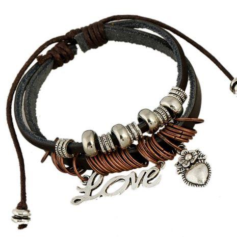 Fashion LOVE accessories leather bracelet NHPK152054's discount tags