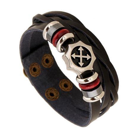 Korean alloy wide leather bracelet NHPK152059's discount tags