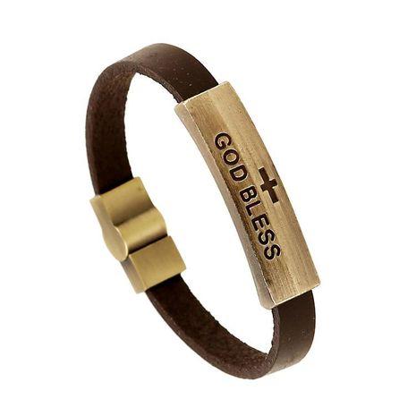 Unisex geometric leather Bracelets & Bangles NHPK152074's discount tags