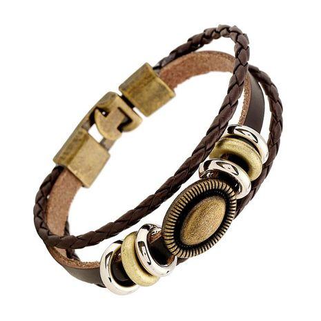 Unisex geometric leather Bracelets & Bangles NHPK152075's discount tags