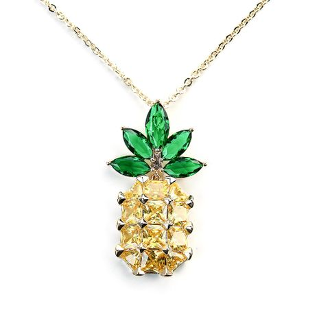 Fashion Korean autumn and winter wild pineapple diamond sweater chain NHLL152093's discount tags