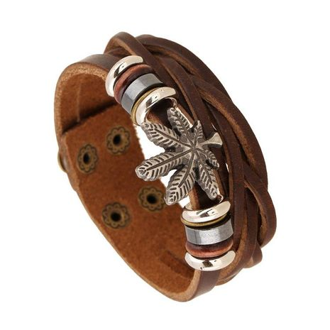 Korean leather rivet bracelet NHPK152095's discount tags