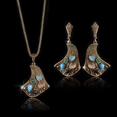 Conjunto de joyas retro de temperamento noble de moda para mujer NHLJ152099's discount tags