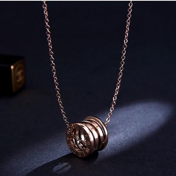 Net red hip hop female rose gold clavicle chain necklace NHIM152115