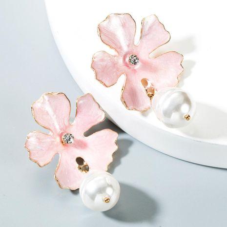 Pendientes de perlas de imitación de aleación de flores multicolor de moda NHLN152117's discount tags