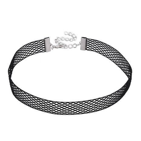 Gargantilla de personalidad de encaje de red de pescado negro de moda NHVA152132's discount tags