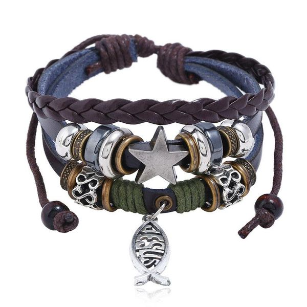 Fashion Jesus Fish Cross Bracelet NHPK152141