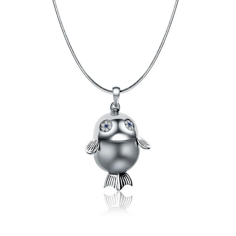 Fashion Cartoon Bird Sweater Chain Necklace NHLJ152165