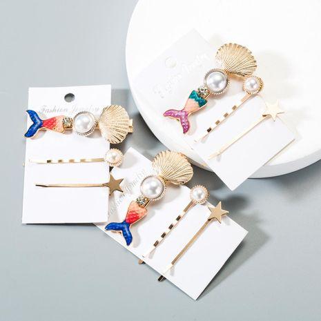 Moda Pearl Shell Mermaid Hair Accessories NHLN152164's discount tags