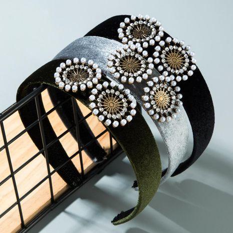 Diadema de piedras preciosas artificiales de estilo palacio vintage NHLN152176's discount tags