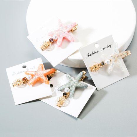 Corea Starfish Pearl Rhinestone Shell Accesorios para el cabello NHLN152180's discount tags