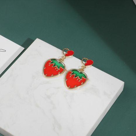 Aretes de aleación de chapado de frutas para mujeres NHLL152198's discount tags