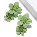 Multicolor double layer alloy flower earrings NHPF151914
