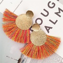 Europe and America exaggerated alloy long tassel earrings NHVA152192