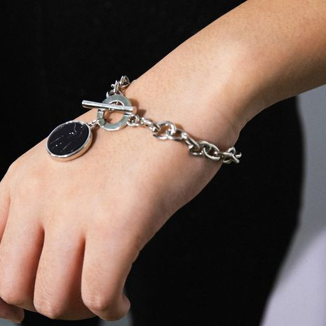 Fashion wild stone pattern alloy bracelet NHXR152216's discount tags
