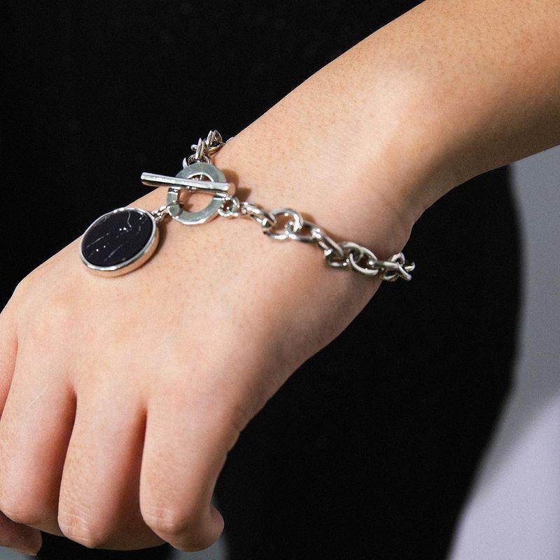 Fashion wild stone pattern alloy bracelet NHXR152216