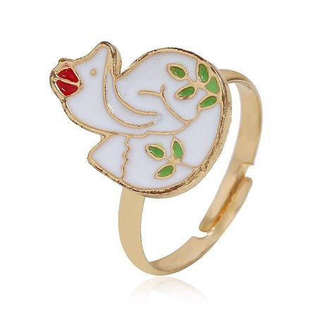 European and American simple animal alloy ring NHKQ152223's discount tags