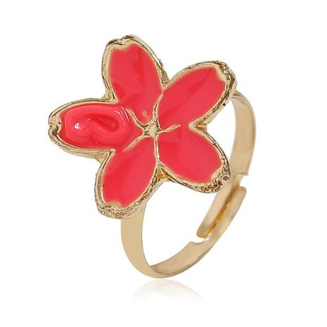 European and American simple floral alloy ring NHKQ152233's discount tags