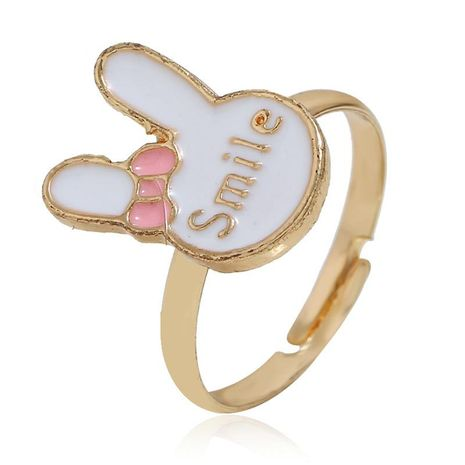 European and American simple rabbit alloy ring NHKQ152245's discount tags