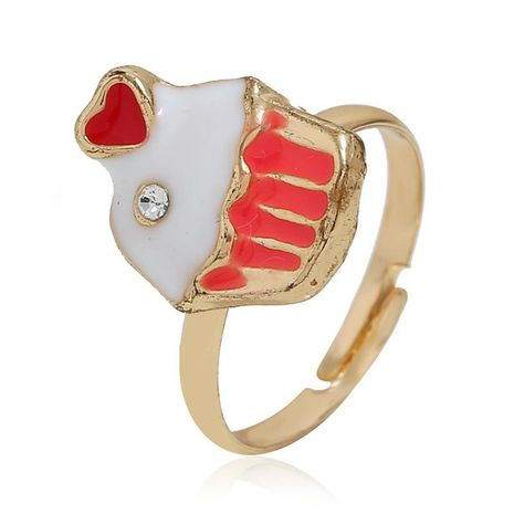 European and American simple fish head alloy ring NHKQ152248's discount tags