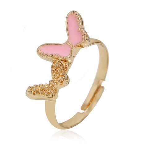 European and American simple butterfly alloy ring NHKQ152249's discount tags