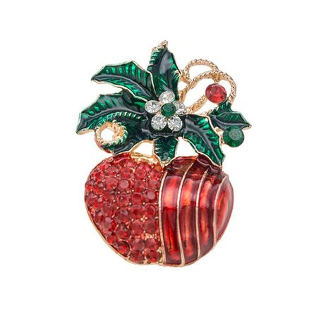 Creative Christmas Red Apple Brooch NHKQ152259's discount tags