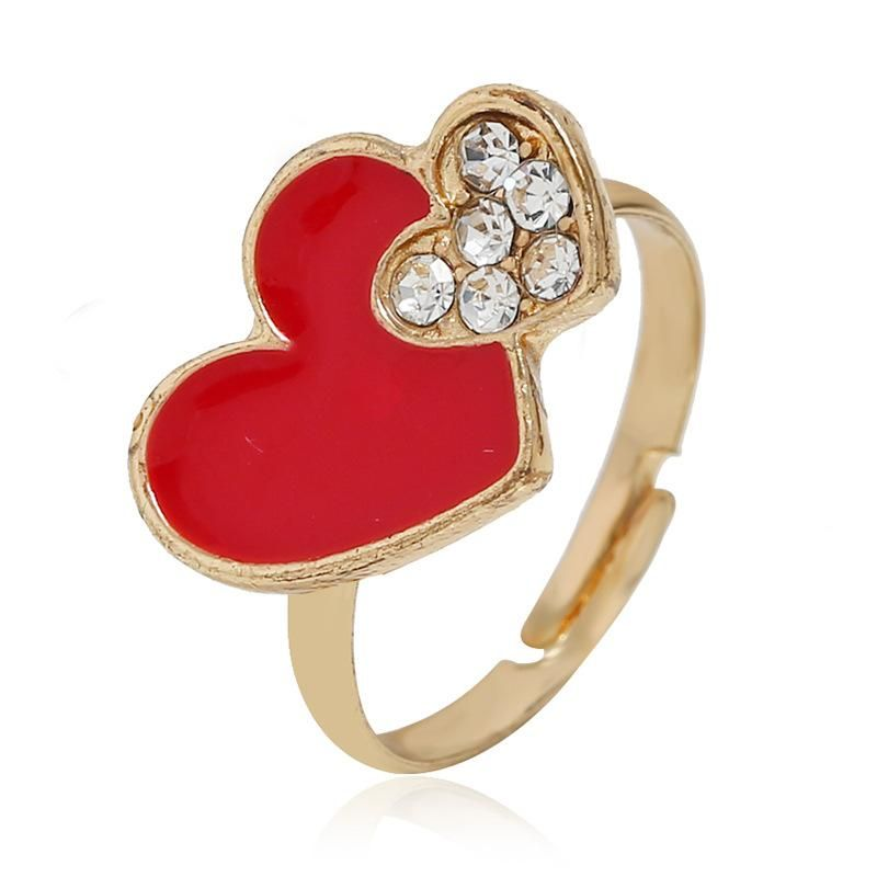 European and American simple love opening adjustable alloy ring NHKQ152269